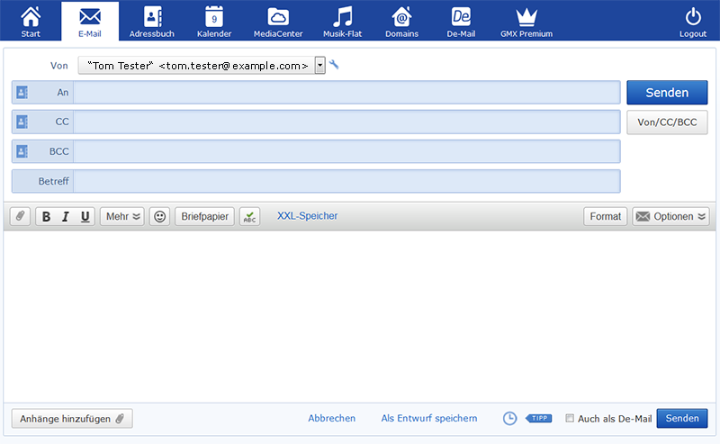 Screenshot E-Mail