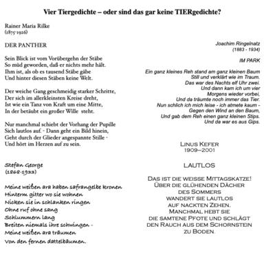 Tannenbaum Gedicht.Mit Gedichten Arbeiten Vergleichen Zum Unterrichten